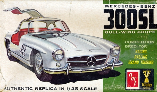1955 mercedes benz 300sl gull wing coupe 1 25 original issue for Mercedes benz rental pittsburgh