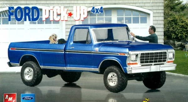 1979 Ford 4 X Pickup From AMT Vintage Tooling 1 25 Fs