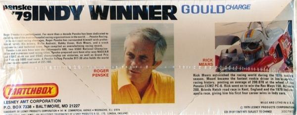 Rick Case Vw >> 1979 Penske PC-6 'Gould Charge' Rick Mears '79 Winner Indy ...