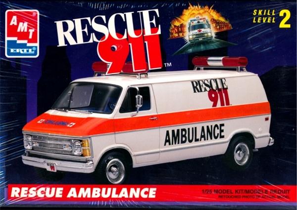 Dodge Van Rescue 911 'Rescue Ambulance' (1/25) (fs)