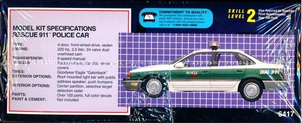 1993 Ford Taurus Police Car 'Rescue 911' (1/25) (fs)