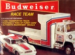 "Ford LNT 8000 Transporter ""Budweiser Wedge Truck"" with Mustang II Funny Car (1/25)"