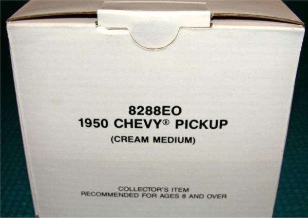 Chevy Ss Pickup >> 1950 Chevy Pickup Cream Medium Promo (1/25) (Mint in Box)
