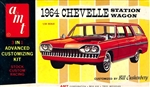 1964 Chevy Chevelle Malibu Station Wagon (3 'n 1) Stock, Custom or Racing (1/25)