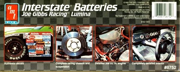 1992 Interstate Batteries Joe Gibbs Racing Lumina 1 25 Fs