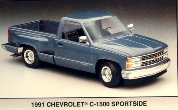 Image result for AMT chevy silverado  stepside pick up