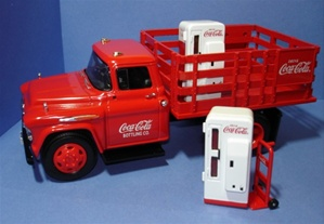 1957 Chevy Stake Truck Die Cast Quot Coca Cola Quot 1 25 Fs