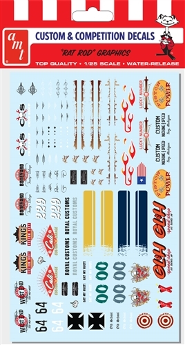 "Rat Rod Graphic Decals (1/25) (fs) <br><span style=""color: rgb(255, 0, 0);"">Just Arrived</span>"