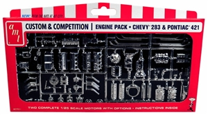 GM Engine Parts Pack Chevy 283 Pontiac 421 (1/25) (fs)