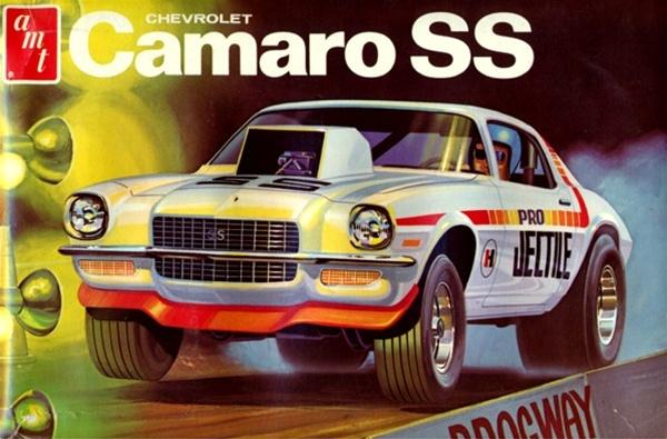 1972 Chevy Camaro SS (3 'n 1) Stock, Custom, Drag (1/25) (fs) Mint c.72 annual
