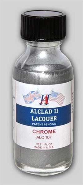 Alclad Ii Chrome Lacquer For Plastic 1 Oz Bottle