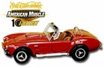 1966 SHELBY A/C COBRA - RANGOON RED/WHITE SIDE PIPES/TAN INTERIOR(1/18) Rare Diecast  (fs)