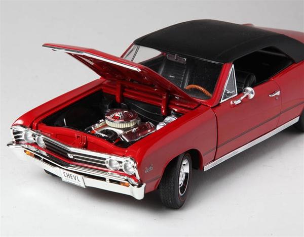 1967 Chevelle Ss396 L78 Bolero Red Black Vinyl Top 1 18