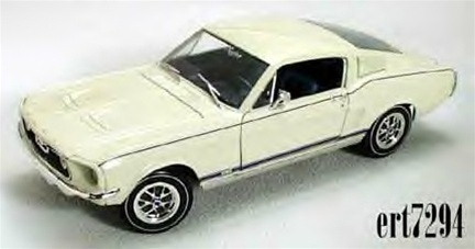 1967 Mustang Fastback >> 1967 Ford Mustang GT Fastback Wimbledon White(1/18) Rare Diecast (fs)