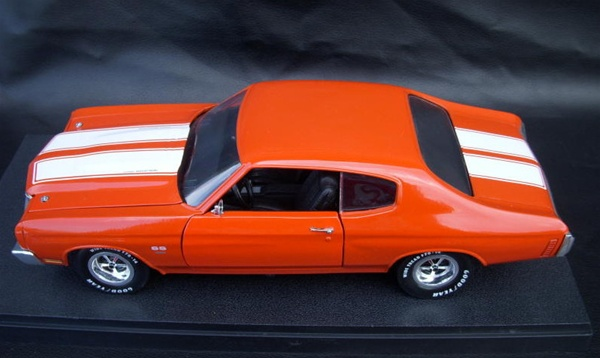 1970 Chevelle Ss454 Ls6 Hugger Orange White Stripes Blk