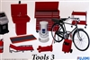 Garage Tools 3 (Creeper, Roll Cart, Battery Charger, Diagnostic Station, Bicycle, etc) (1/24) (fs)