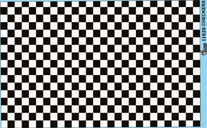 Checkerboard Decal Sheet Gofer Decals Black And White