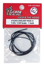 "Coolant Hose # 1 1"" Scale Diameter (1:24-1:25) ""Black"""