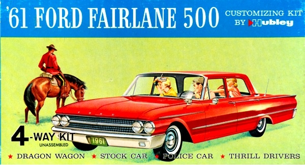 1961 Ford Fairlane 500 4 Door Sedan N 1 Stock Drag Police And Thrill 24 MINT