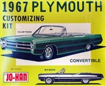 1967 Plymouth Convertible (2 'n 1) Stock and Custom (1/25) (fs) MINT