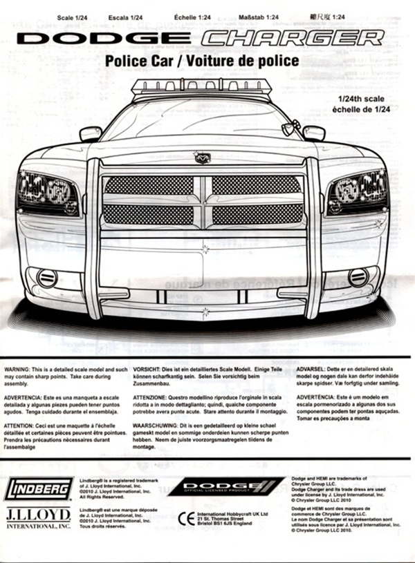 Dodge Charger Police Car Los Angeles Police Unpainted