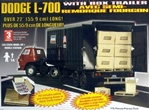 1965 Dodge L-700 Tilt Cab with Box Trailer (1/25) (fs)