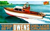 1959 Owens Outboard Deluxe Cruiser Boat (1/25) (fs)