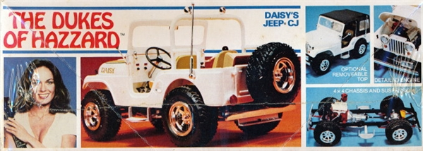 """Daisy Duke Jeep >> Dukes of Hazzard Daisy's Jeep CJ-5 """"Original First Issue 1980"""" (1/25) (fs)"""