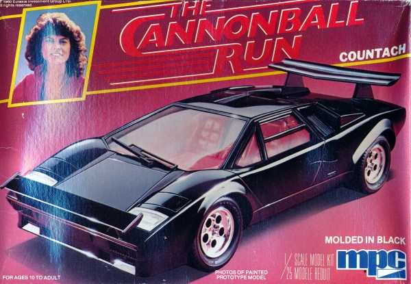 1981 lamborghini countach 39 the cannonball run 39 1 25. Black Bedroom Furniture Sets. Home Design Ideas