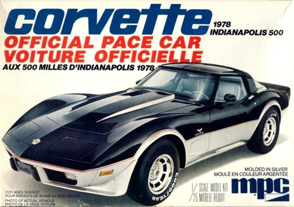 1978 corvette coupe indy pace car 1 25 fs. Black Bedroom Furniture Sets. Home Design Ideas