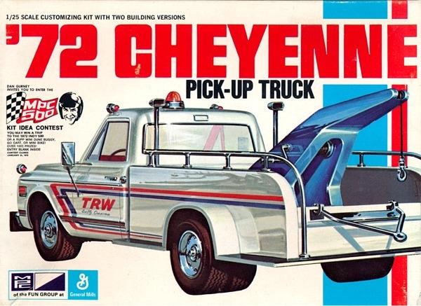 1972 Chevy Fleetside Cheyenne Tow Truck 1 25