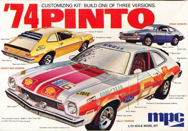1974 Ford Pinto (3 'n 1) Stock, Street Rod or Rally (1/25 ...