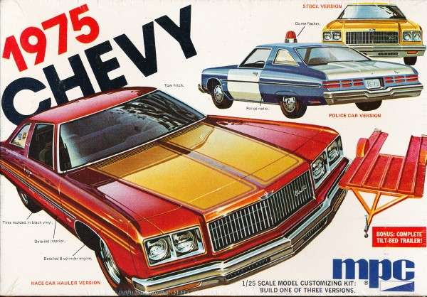 1975 Chevy Caprice 2 Door Hardtop With Trailer 3 N 1