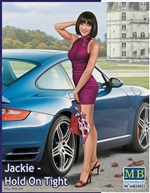 "Jackie ""Hold On Tight"" A Modern  Pin-Up Girl Wearing Mini-Dress Posing with Hand on Head (1/24)"
