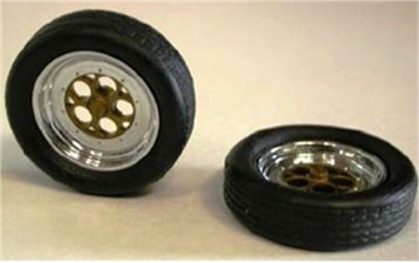 Funny Car Front Rims And Tires Set Of 2 1 25