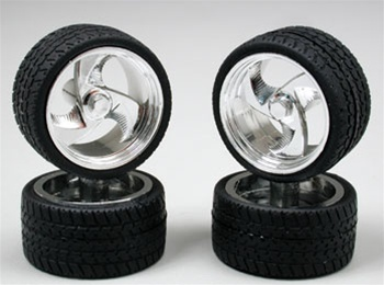 """Tires 4 Less >> Tri-blade Wheels with Low-Profile Tires 19"""" (Set of 4) (1/25)"""