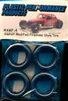 1960's and 70's Asphalt Modified Firestone Tires (All Tires Same Size) (set of 4)