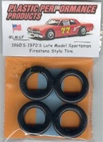 1960's and 70's Late Model Sportsman Firestone Tires (set of 4)