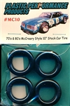 70's & 80's McCreary Style 10'' Stock Car Tires with decals (set of 4)