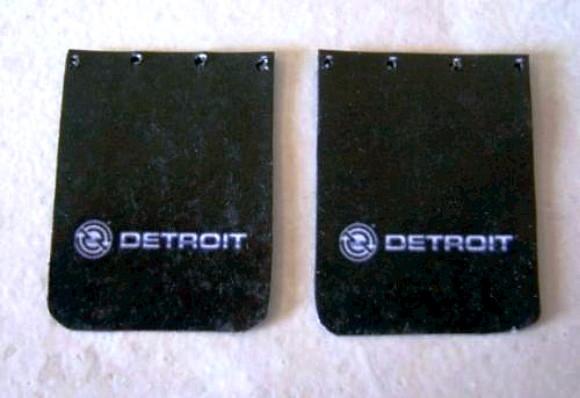 Detroit Diesel Truck Mud Flap Set 1 25