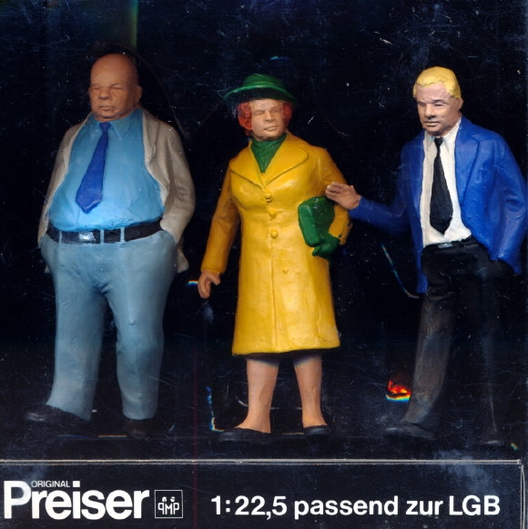 Preiser Pre Painted Figures Set Of 3 1 22 Fs
