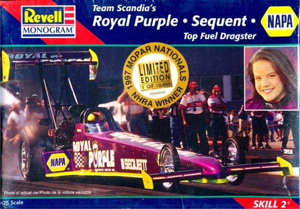 1996 Cristen Powell Royal Purple Top Fuel Dragster 1 25