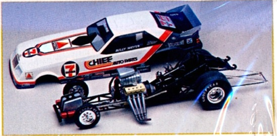 ... billy meyer s mustang is a re issue revell blue max funny car built