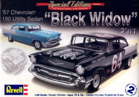 1957 chevy 150 sedan 39 black widow 39 2 39 n 1 1 25 fs for 1957 black widow 150 two door sedan