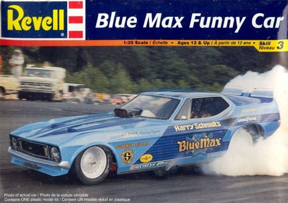 Blue Max Mustang Funny Car 'Blue Max' (1/25( (fs)