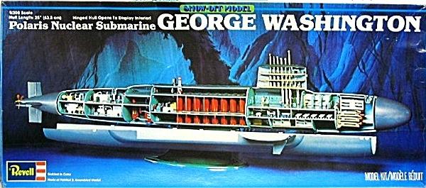 USS George Washington Submarine (Vintage Renwal Tooling) (1