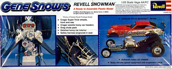 "Best Snow Tires >> 1974 Gene Snow's ""Snowman"" Vega Funny Car (1/25) (fs)"