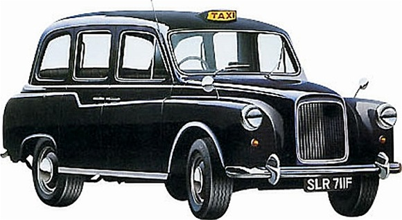 Taxi Cab Austin >> 1958 Austin FX4 London Taxi (Revell of Germany) (1/24) (fs)