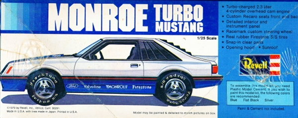 1979 ford mustang monroe turbo 1 25 fs. Black Bedroom Furniture Sets. Home Design Ideas