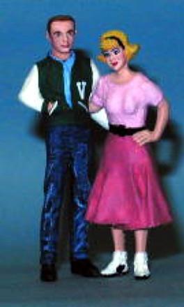50s 60s Teen Girl In Poodle Skirt Diane Figure 1 25 Fs